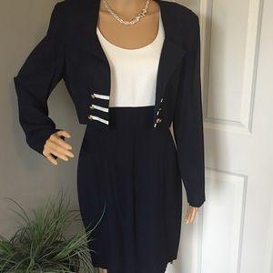 Scarlett Vintage Navy Blue 2pc Nautical Dress